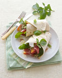 Ham Peach and Cheese Wrap Stock Images