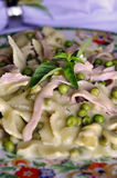 Ham, Peas and Pasta Royalty Free Stock Photo