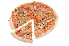Ham, and pepper pizza Stock Images
