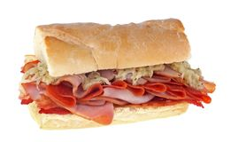Ham and Pepperoni Sandwich Stock Photos