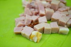 Ham pieces Stock Photo