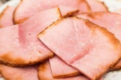 Ham Piled High cortado Foto de archivo