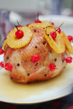 Ham with pineapple glaze Stock Images