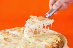 Ham and pineapple hawaiian pizza Royalty Free Stock Images