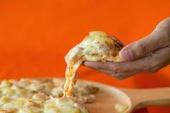 Ham and pineapple hawaiian pizza Royalty Free Stock Photo