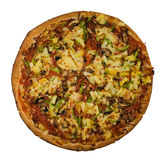 Ham and Pineapple Pizza Royalty Free Stock Images