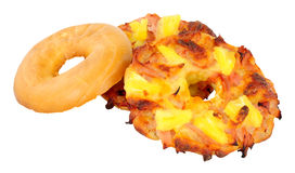 Ham And Pineapple Pizza Bagels Fotografia Stock Libera da Diritti