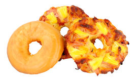 Ham And Pineapple Pizza Bagels Fotografia Stock
