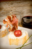 Ham pintxo Stock Photography