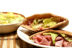 Ham On Pita Stock Image