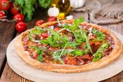 Ham Pizza casalingo Fotografia Stock Libera da Diritti