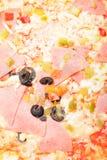 Ham pizza closeup Royalty Free Stock Photography
