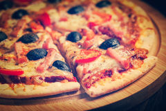 Ham pizza Royalty Free Stock Image