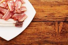 Ham on plate Royalty Free Stock Photos