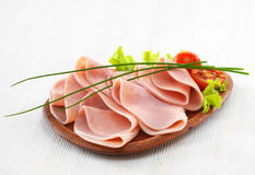 Ham on plate Royalty Free Stock Image