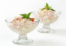 Ham and potato salad Stock Images