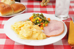 Ham and potatoes Au Gratin Royalty Free Stock Photography