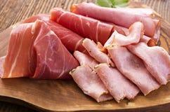 Ham and Prociutto Stock Photo