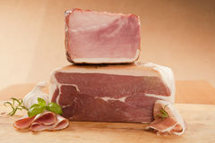Ham and prosciutto piece. Stock Photography