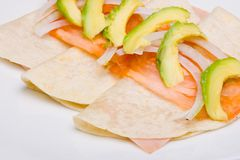 Ham quesadillla Stock Photo
