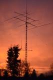 Ham Radio Tower. Amateur Radio Tower (Ham Radio) Tower at sunrise Stock Photo