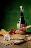 Ham and red wine Royalty Free Stock Image
