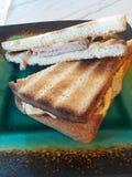 Ham Reuben sandwich royalty free stock photo