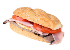 Ham and Roast Beef Sandwich Royalty Free Stock Image