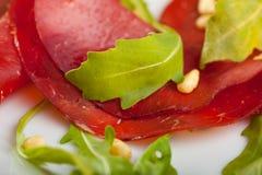 Ham with rocket salad Stock Photos