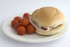 Ham roll Royalty Free Stock Photo