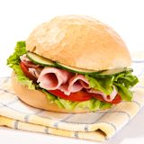 Ham Roll Royalty Free Stock Image