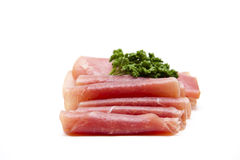 Ham Rolled With Parsley Royalty Free Stock Photo