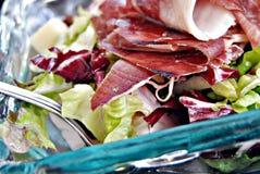 Ham Salad. Ham on lettuce and cheese Stock Photo