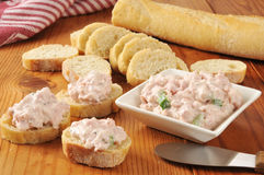 Ham salad appetizers Stock Images