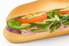 Ham Salad Baguette Royalty Free Stock Photo