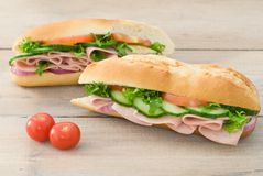 Ham Salad Baguettes Royalty Free Stock Images