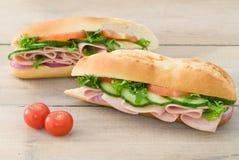 Ham Salad Baguettes Royalty Free Stock Images
