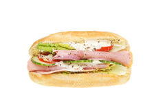 Ham salad filled baguette Stock Images
