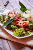 Ham and Salad Plate Stock Photos