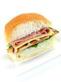 Ham and Salad Roll Stock Images