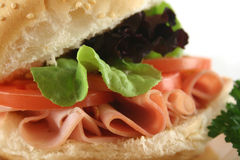 Ham And Salad Roll 8 Royalty Free Stock Photo