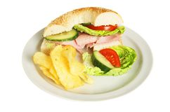 Ham salad roll Stock Photography