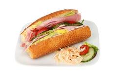 Ham salad roll Stock Images