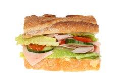 Ham salad roll Royalty Free Stock Photos