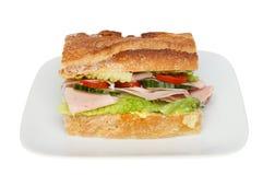Ham salad roll Stock Photography
