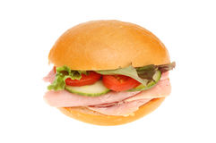 Ham salad roll Royalty Free Stock Images