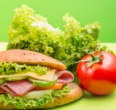 Ham Salad Roll Means Food Freshness And Loaf royalty free stock image