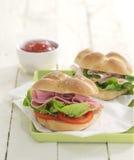 Ham salad rolls Royalty Free Stock Images