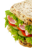 Ham Salad Sandwich. Isolated on white background Royalty Free Stock Image