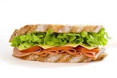 Ham and Salad Sandwich stock photography
